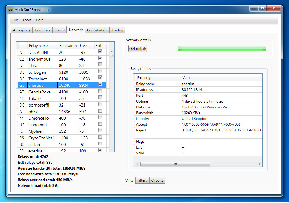 Mask Surf Everything, Access Restriction Software Screenshot
