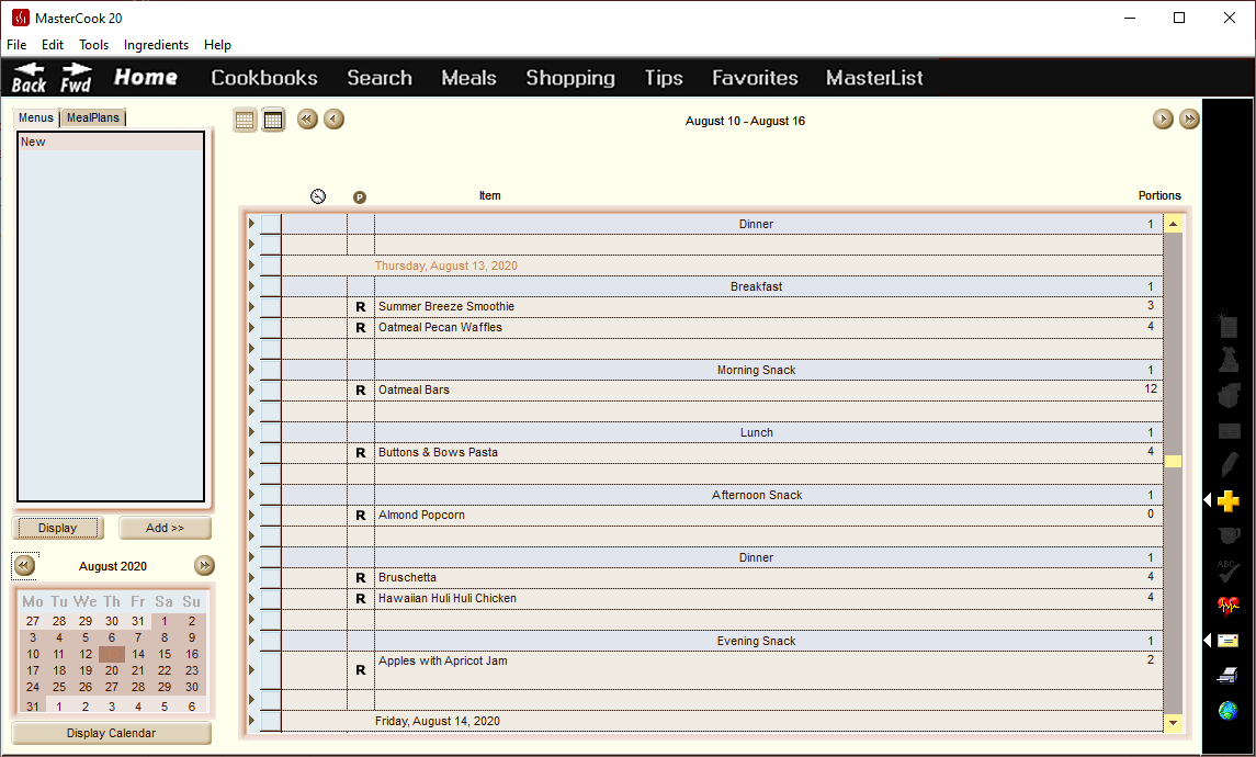 MasterCook 2020, Productivity Software Screenshot