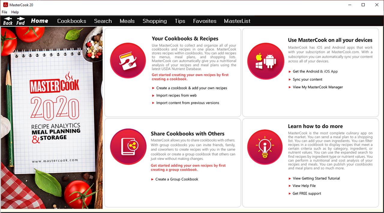 MasterCook 2020 Screenshot