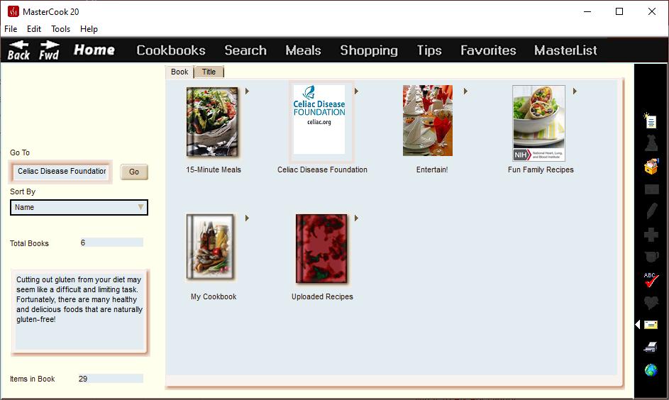 Food / Cooking Software Screenshot
