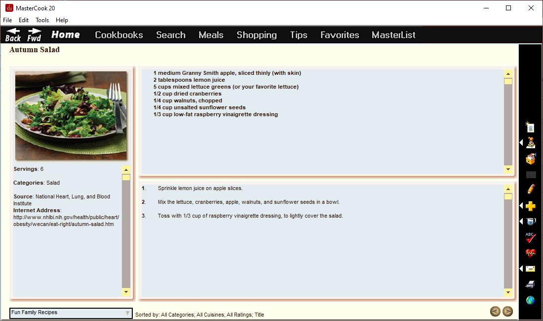 MasterCook 2020, Food / Cooking Software Screenshot