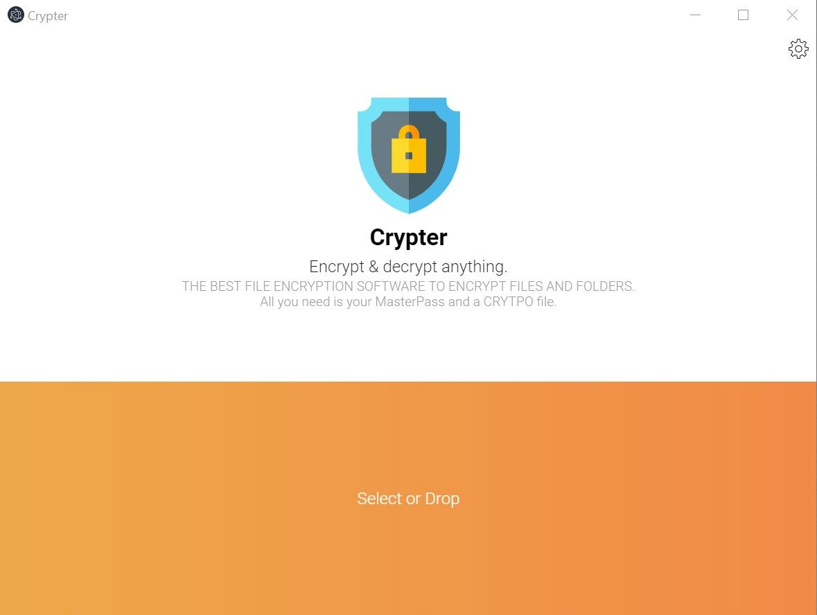 Encryption Software, MasterCrypt Screenshot