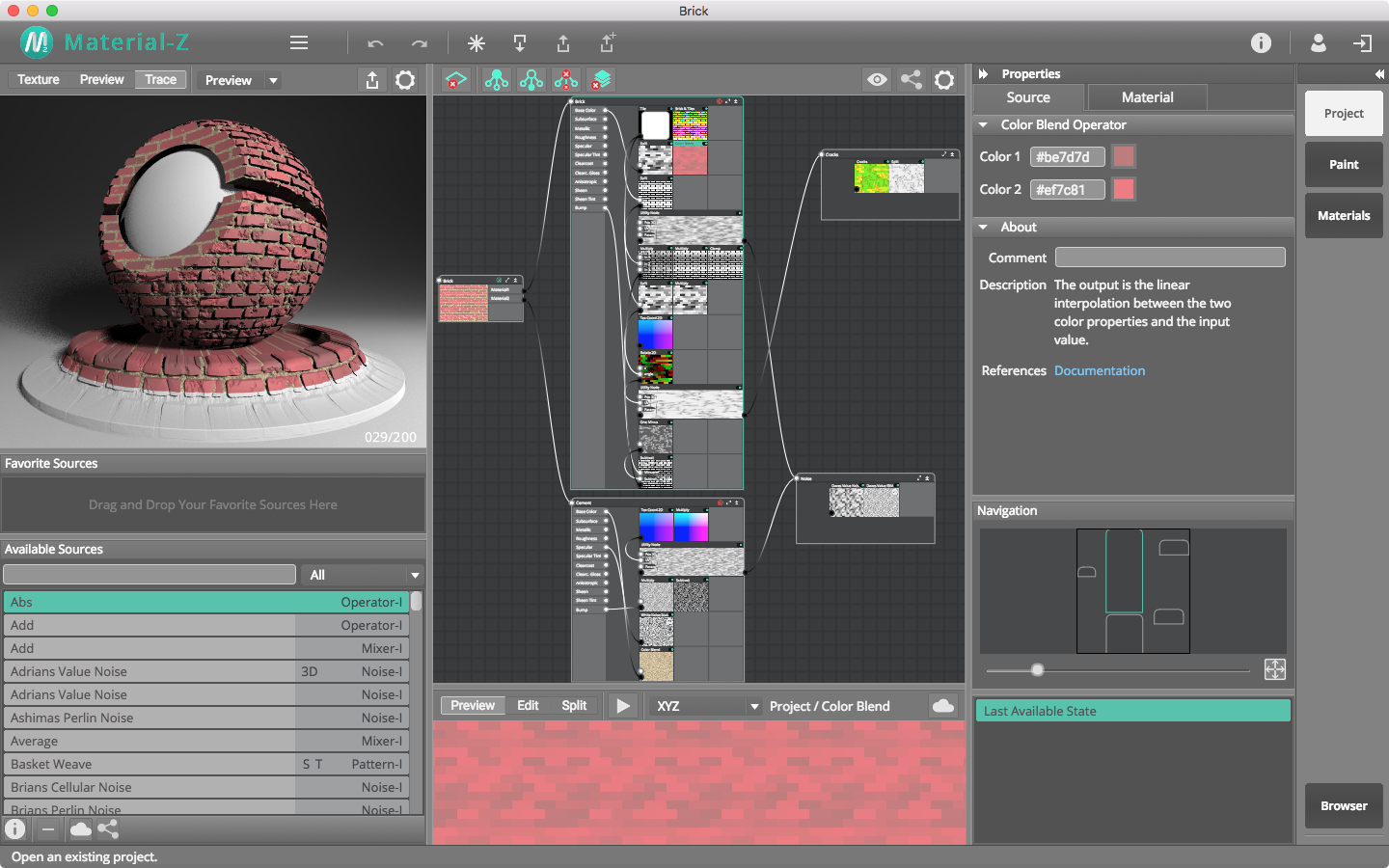 Material-Z, Graphic Design Software Screenshot