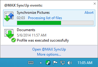@MAX SyncUp, File Sync Software Screenshot