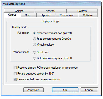 MaxiVista Pro, Desktop Space Software Screenshot