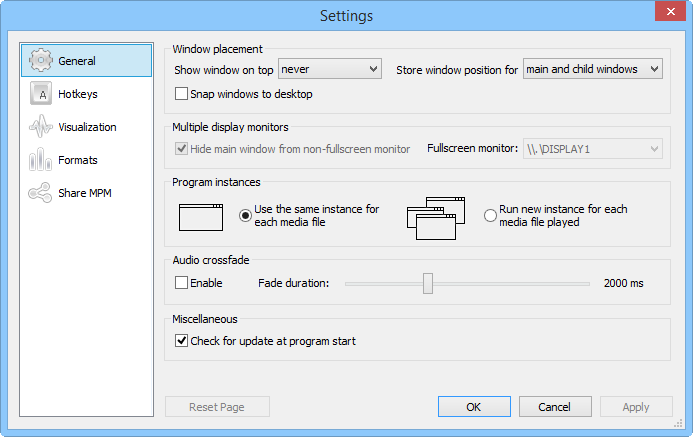Media Player Morpher PLUS, Audio Software Screenshot