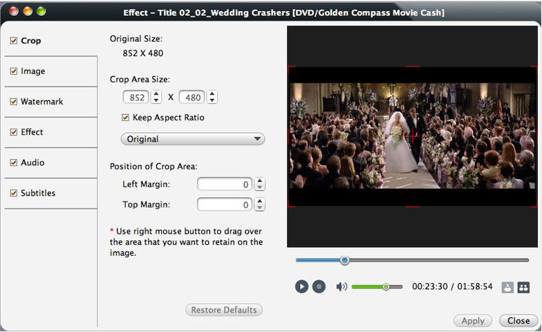 mediAvatar DVD Converter for Mac, Video Software Screenshot