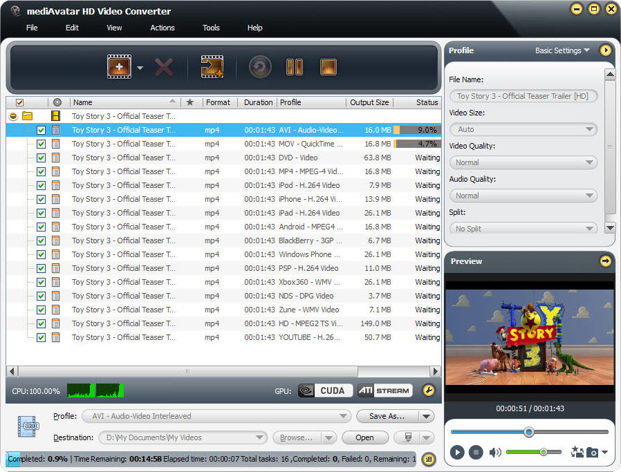 mediAvatar HD Video Converter Screenshot 14