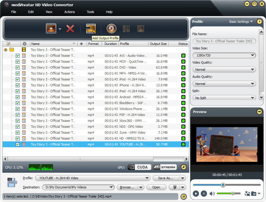mediAvatar HD Video Converter Screenshot 10