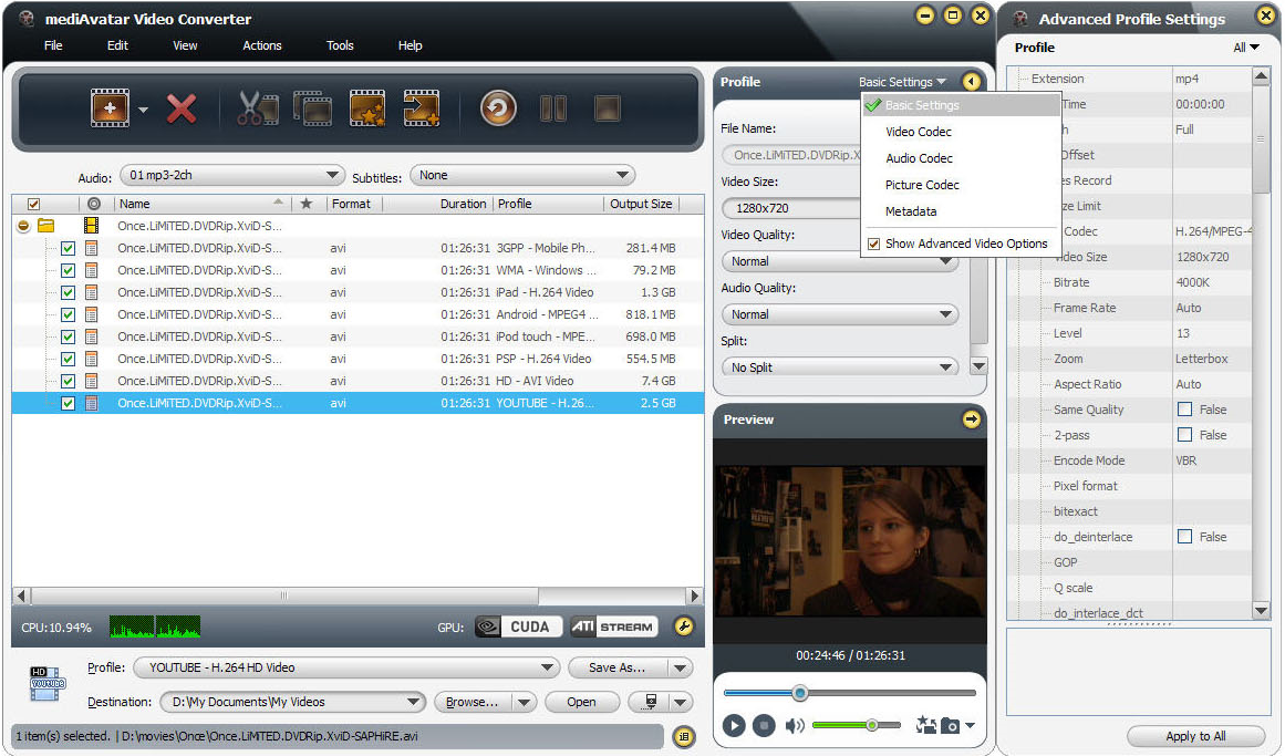 mediAvatar Video Converter Pro Screenshot 15