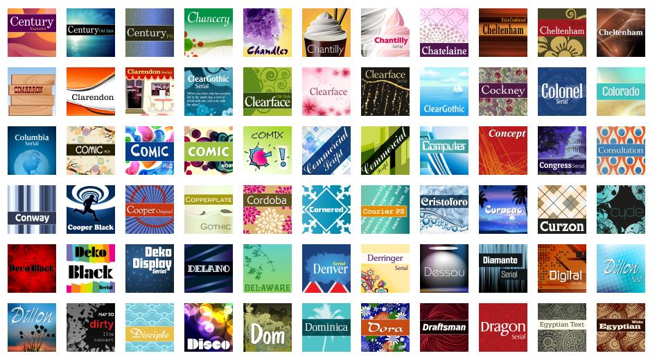 MegaFont NEXT, Fonts and Font Tools Software Screenshot