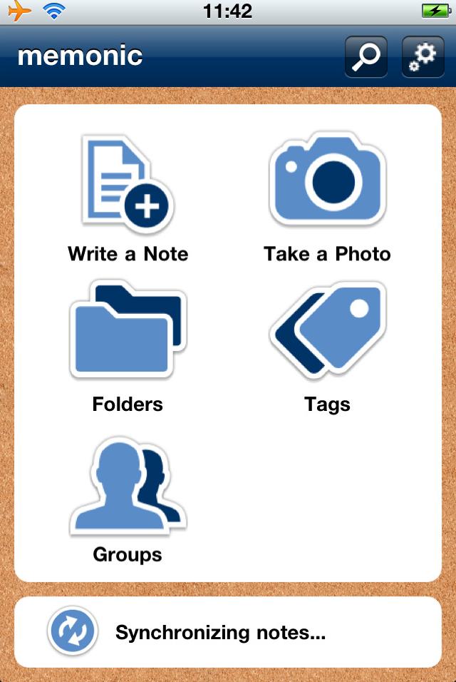 Memonic, Productivity Software Screenshot
