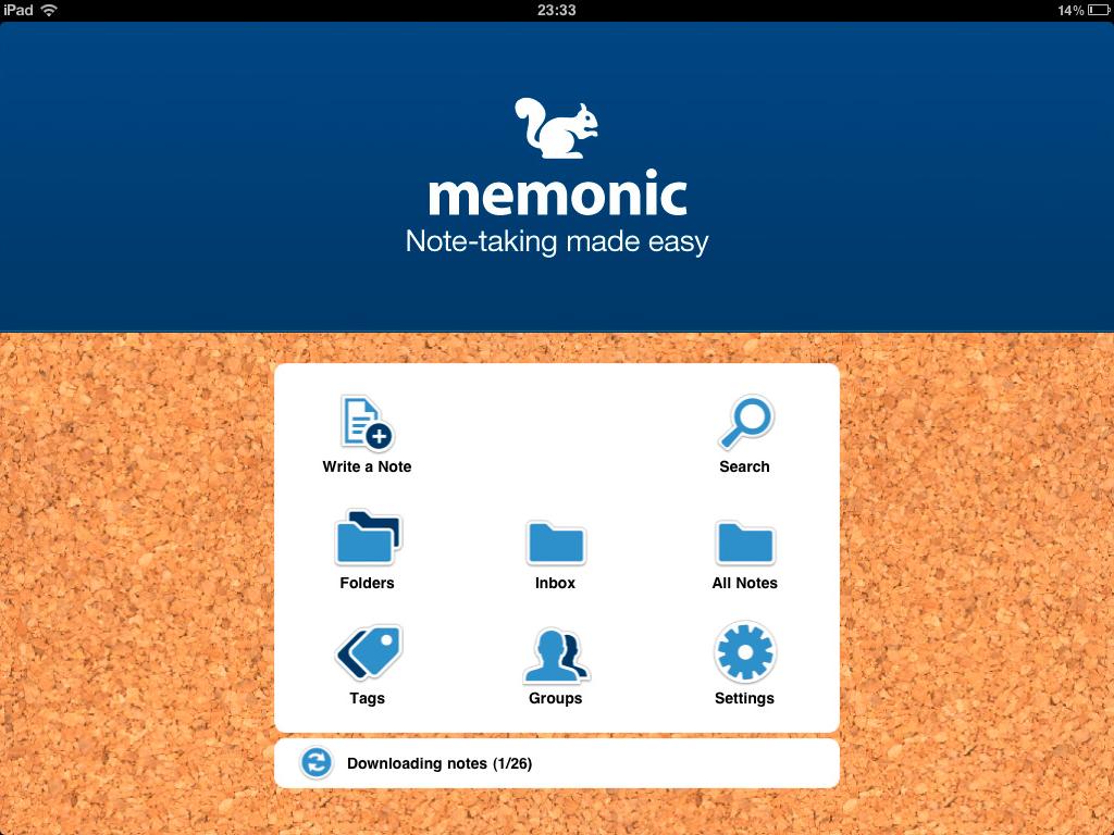 Productivity Software, Memonic Screenshot