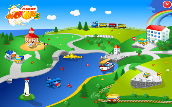 Merry Motors Edutainment Games Screenshot