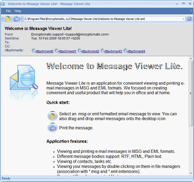 MessageViewer Lite Screenshot