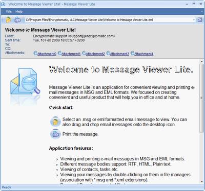 MessageViewer Lite Screenshot