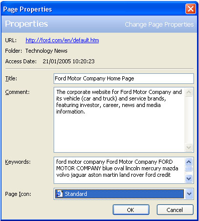 MetaProducts Inquiry Standard Edition, Web Research Software Screenshot