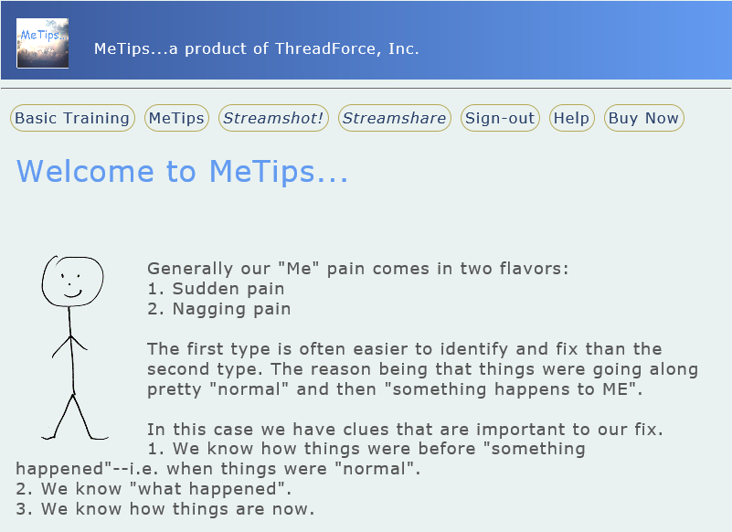 MeTips Screenshot