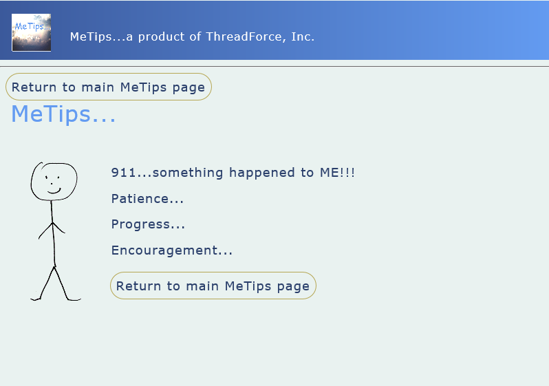 MeTips, Health Software Screenshot