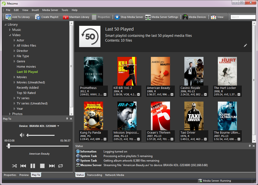 Mezzmo Pro, Video Player Software Screenshot