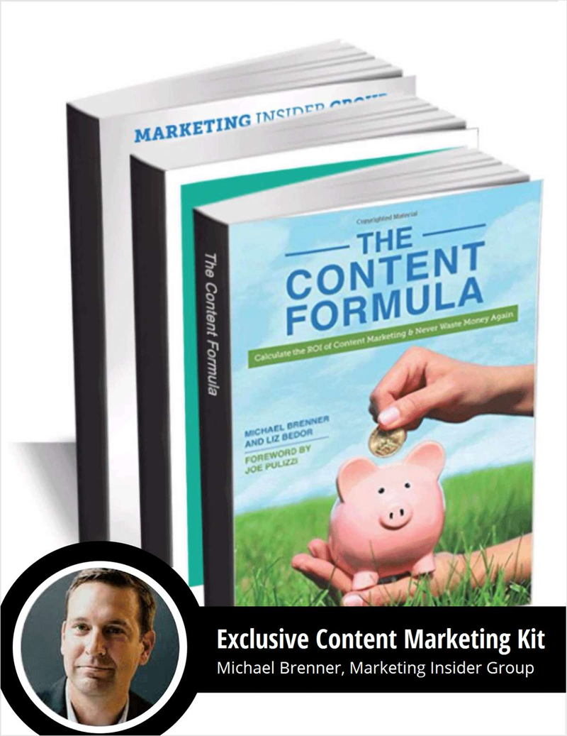 Michael Brenner's Exclusive Content Marketing Kit Screenshot