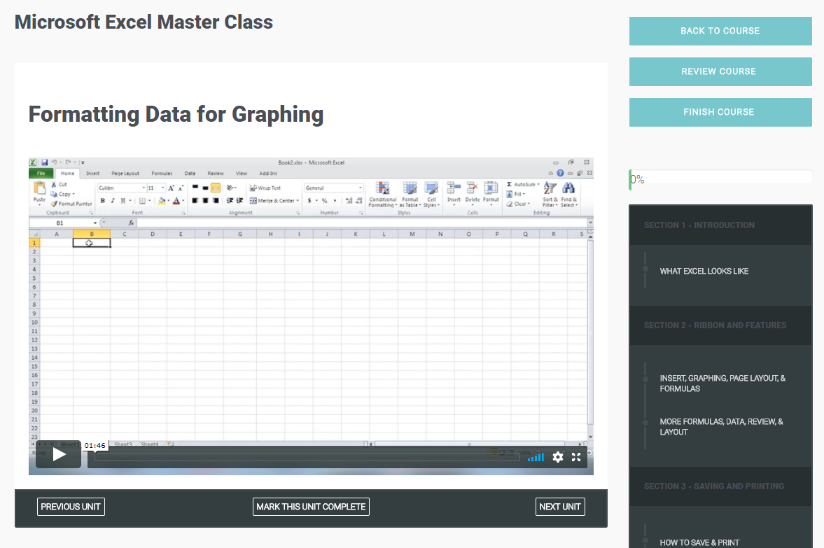 Learning and Courses Software Screenshot
