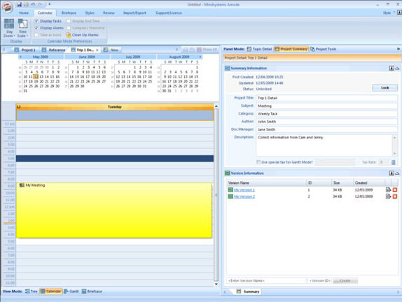 Mindsystems Amode, PIM Software Screenshot