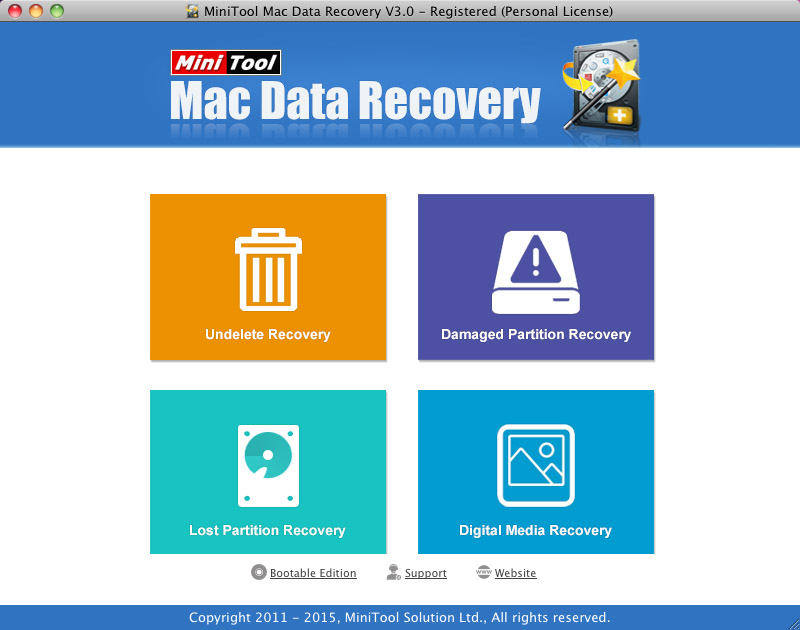 MiniTool Mac Data Recovery Personal Version Screenshot
