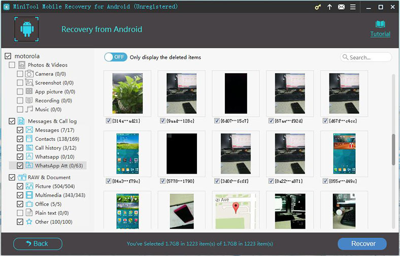 MiniTool Mobile Recovery for Android, Software Utilities Screenshot