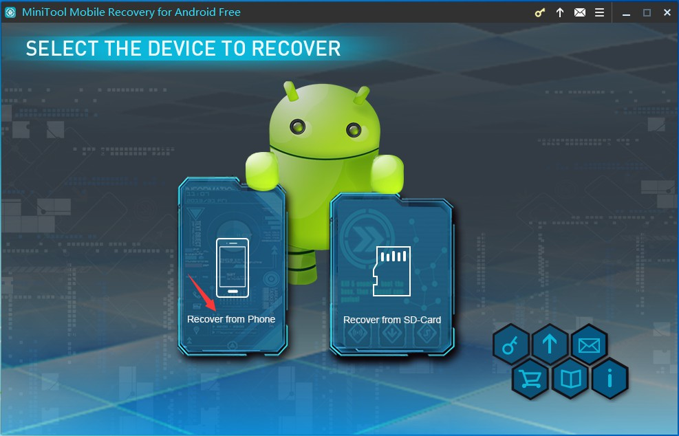 MiniTool Mobile Recovery for Android Screenshot