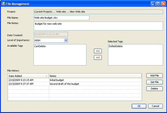 MissingLink Project Management, Project Management Software Screenshot