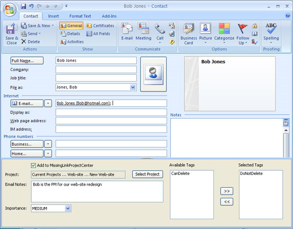 Project Management Software, MissingLink Project Management Screenshot