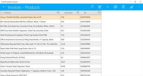 MobiDB Database Designer - Database Software Discount for