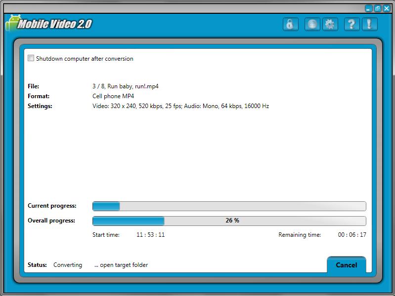 Mobile Video 2, Video Converter Software Screenshot