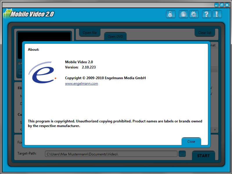 Video Converter Software, Mobile Video 2 Screenshot