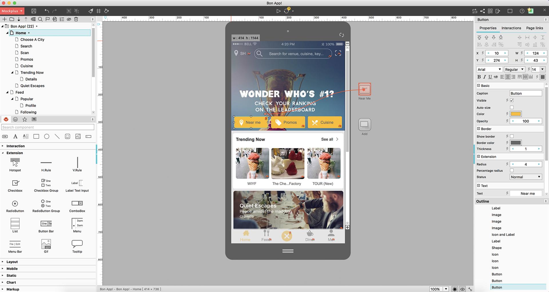 Design Tool Software, Mockplus Screenshot