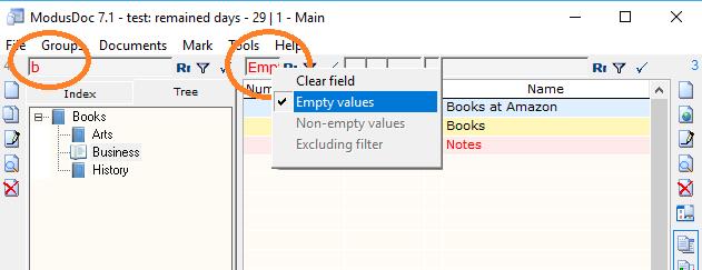 ModusDoc, Cataloging Software Screenshot
