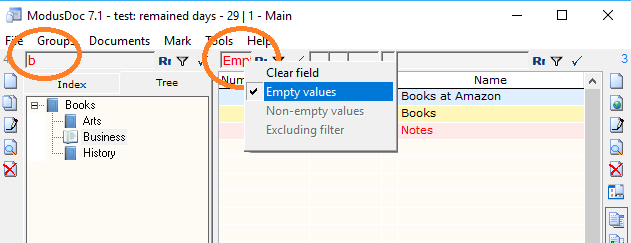 ModusDoc Cloud, Cataloging Software Screenshot