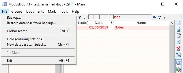 Cataloging Software, ModusDoc Screenshot
