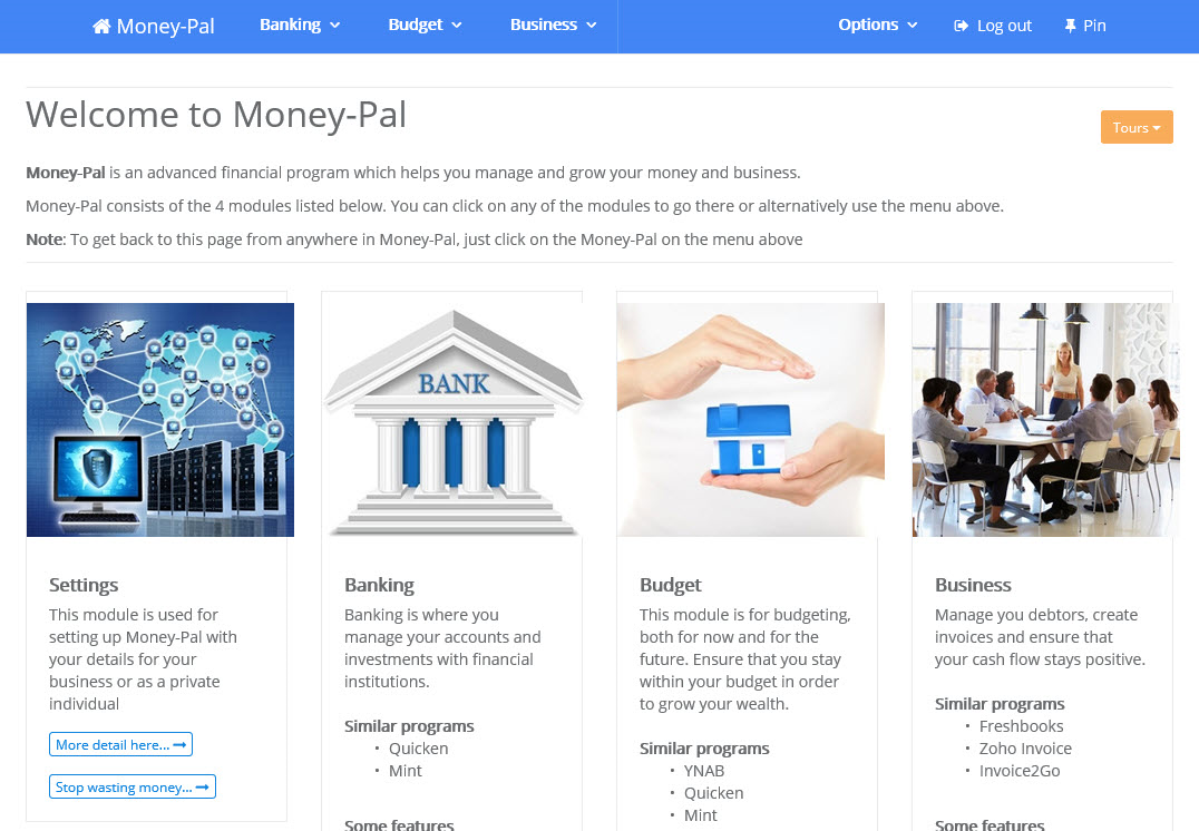 Money-Pal, Business & Finance Software Screenshot