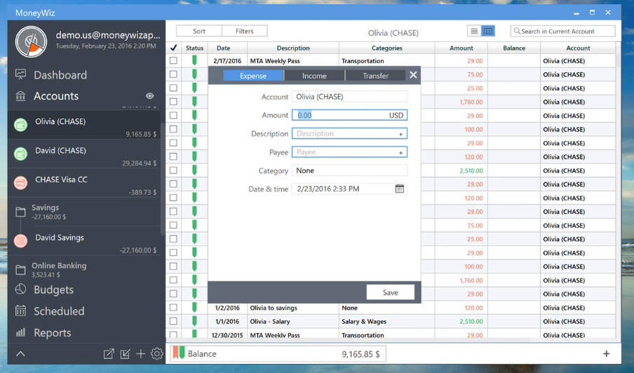 Business & Finance Software, MoneyWiz - Personal Finance Screenshot