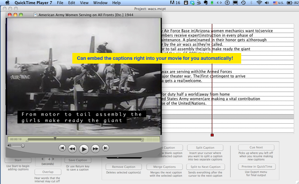 MovieCaptioner, Online Video Software Screenshot