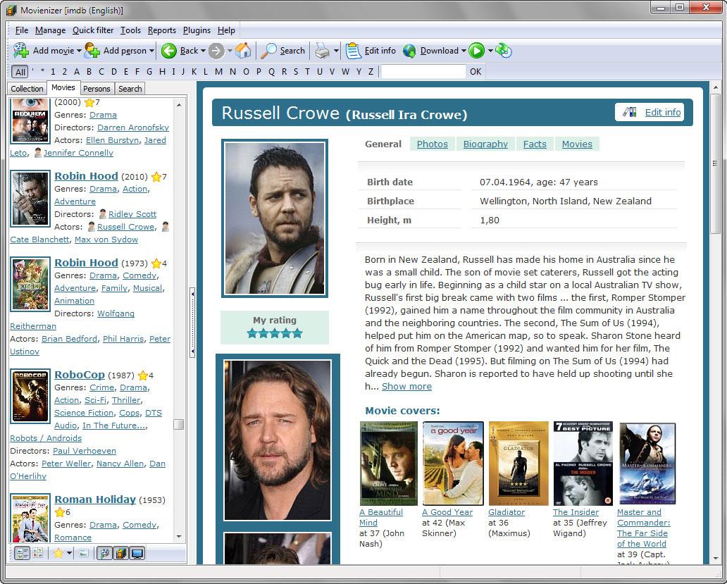 Movienizer Screenshot