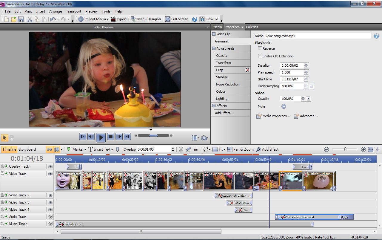 MoviePlusX6, Video Editing Software Screenshot