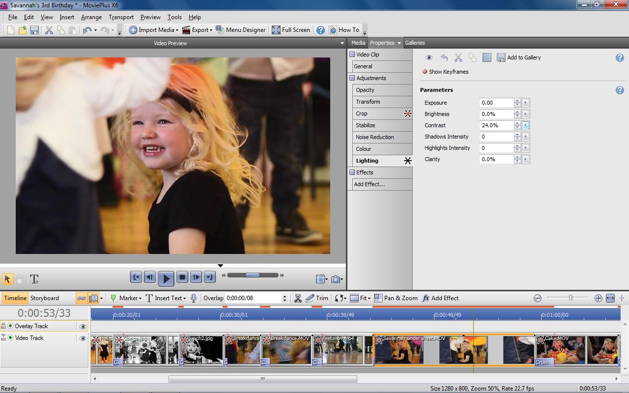Video Editing Software Screenshot