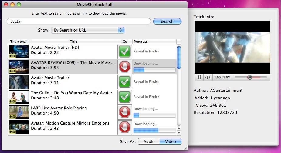 MovieSherlock Full Screenshot