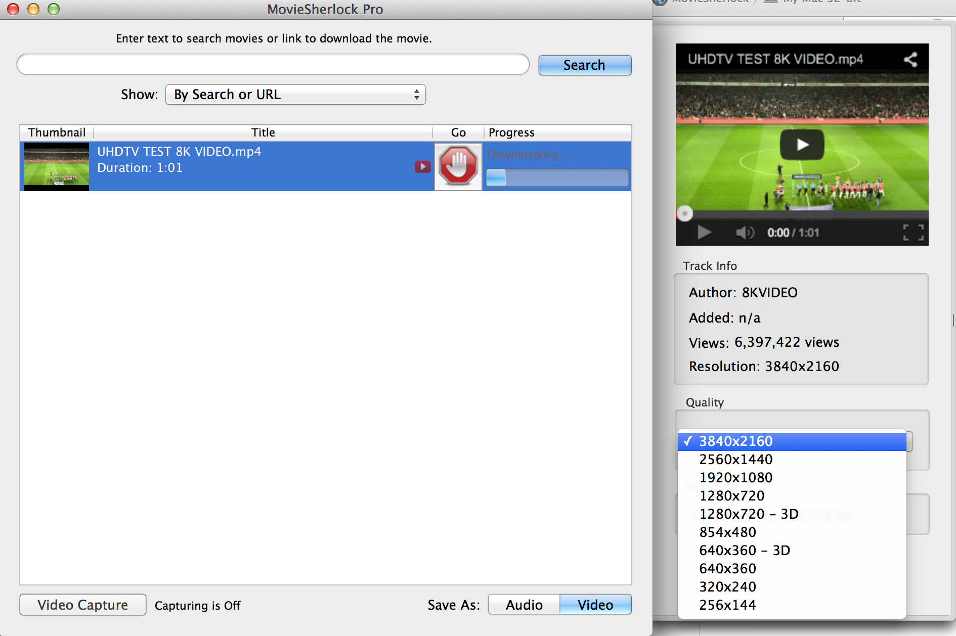 MovieSherlock Pro, Video Software Screenshot