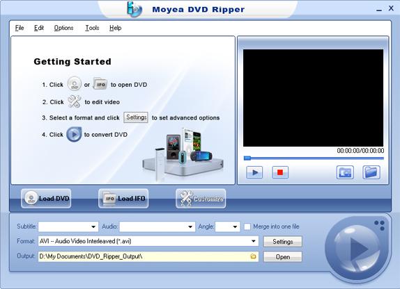 Moyea DVD Ripper Screenshot
