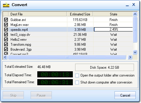 Video Software, Moyea Video Converter Screenshot