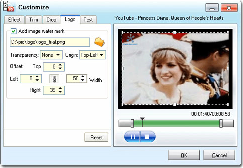Video Software, Moyea YouTube Converter Screenshot